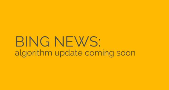 Bing Algorithm Update