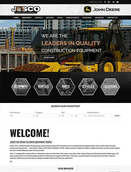 JESCO Website Design by Commercial Web Services