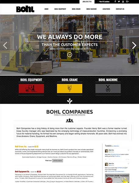 Bohl Companies Website Design by Commercial Web Services