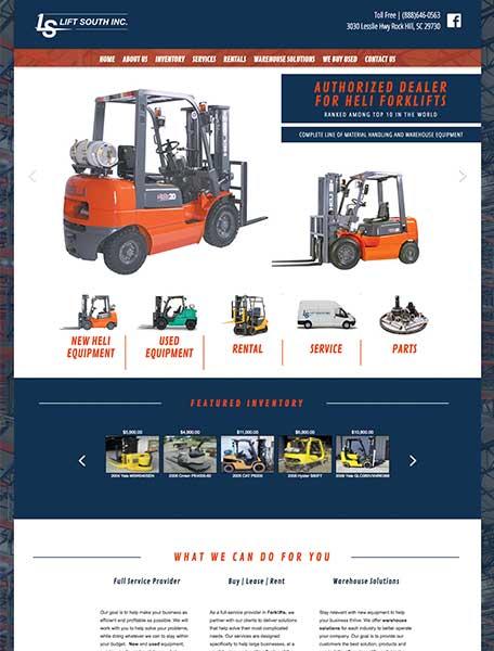 Lift South Inc LS Website Design by Commercial Web Services
