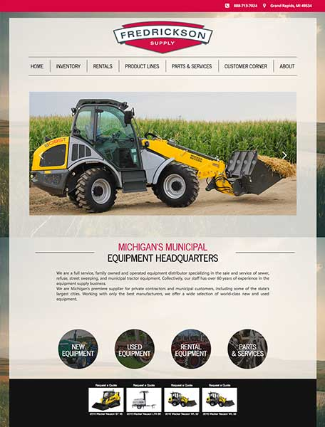 Fredrickson Supply Website Design by Commercial Web Services