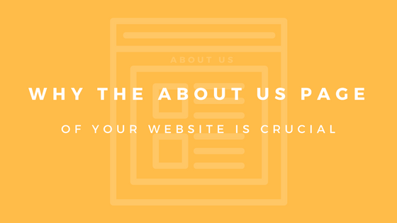 blog about us page of your website crucial