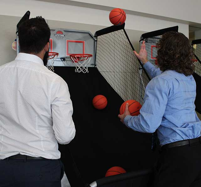 Commercial Web Services Playing Basketball