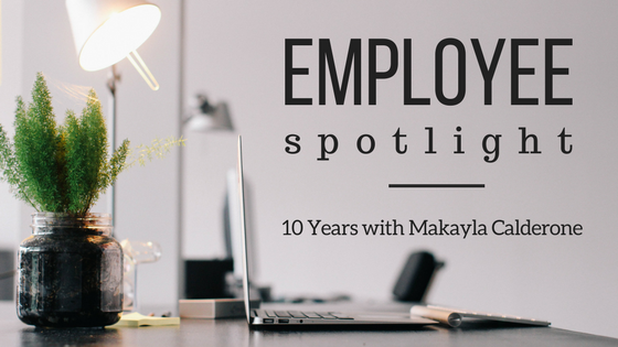 Commercial Web Services Makayla Calderone 10 Years Employee Spotlight