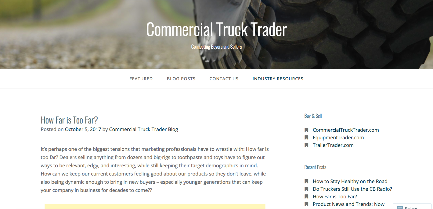 commercial truck trader feature controversial marketing techniques