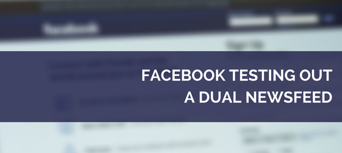 Facebook Dual Newsfeed