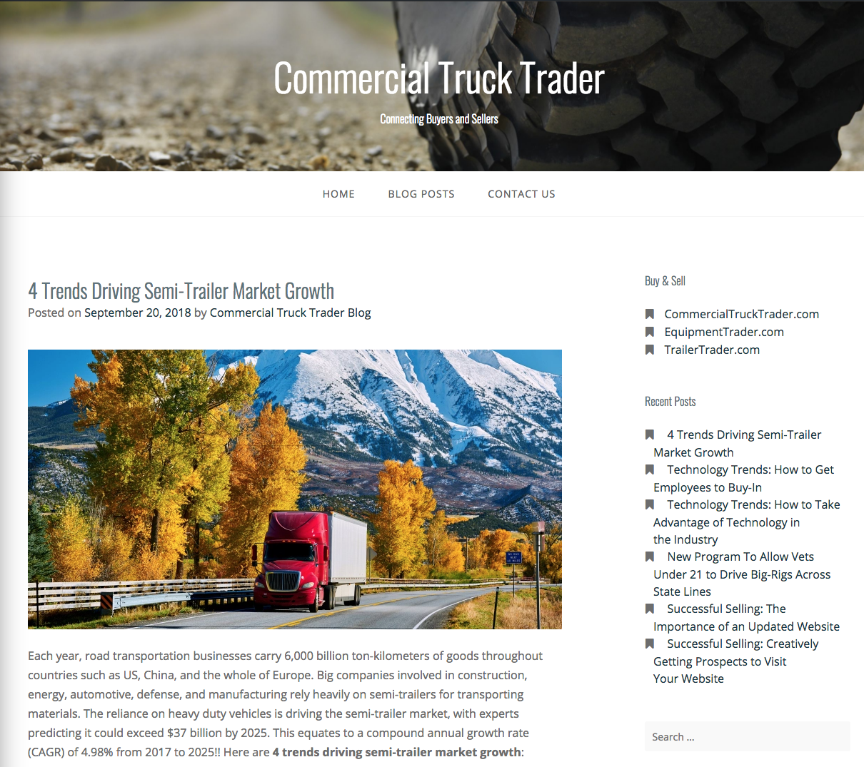 4 Semi-Trailer Market Trends Screenshot