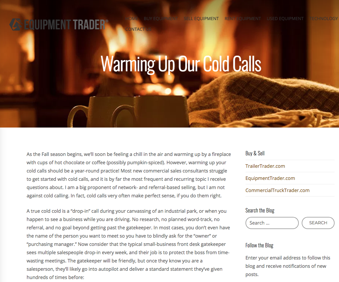 Warming Up Our Cold Calls