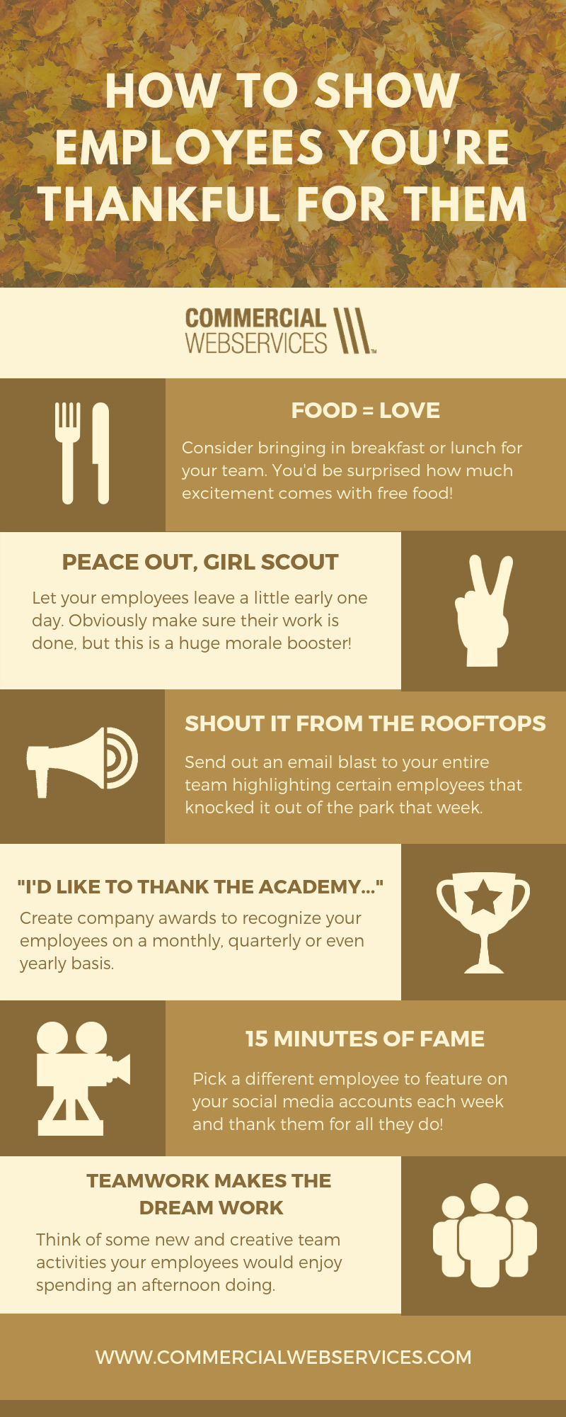 How to Show Employees You're Thankful Infographic