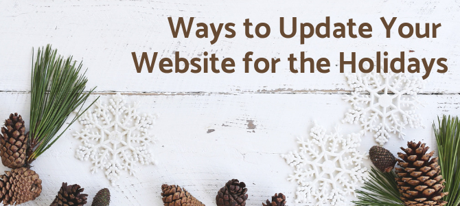 Ways to Update Your Website for the Holidays