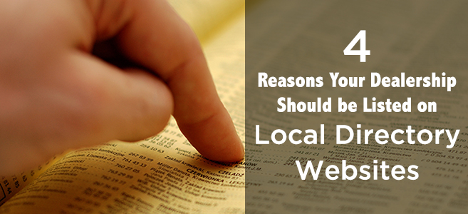 4 Reasons Your Dealership Should Be Listed on Local Directory Websites
