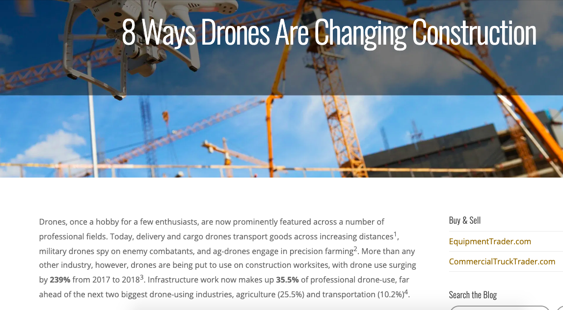 Equipment Trader Feature: 8 Ways Drones Are Changing Construction